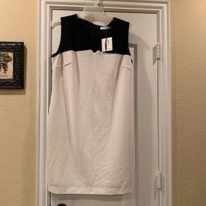 New Calvin Klein Black & White Dress Size 14